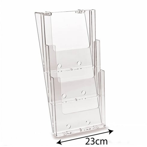 A4 leaflet holder: 3 tier-wall (brochure holder)