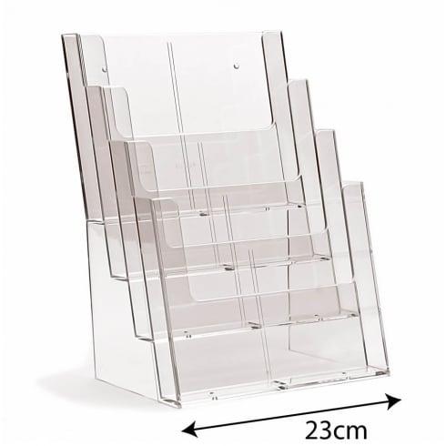 A4 leaflet holder: 4 tier-counter/wall (leaflet & brochure holders)