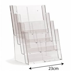 A4 leaflet holder: 4 tier-counter/wall (leaflet & brochure holders)