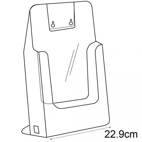 A4 leaflet holder-counter/wall (leaflet & brochure holders)