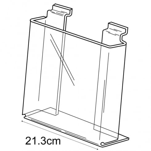 A4 leaflet holder-slatwall (acrylic leaflet holder)