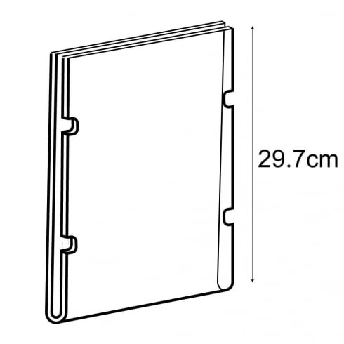 A4 portrait sign holder-cable fixing (hanging sign holder: cable system)