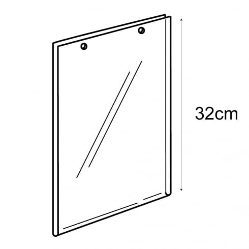 A4 portrait sign holder-hanging (PVC sign holder)