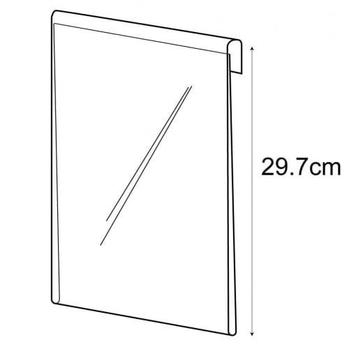 A4 portrait sign holder-hook on (hook over sign holder)