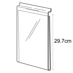 A4 portrait sign holder-slatwall (acrylic slatwall sign holder)