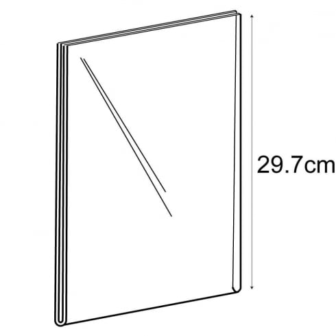 A4 portrait sign holder-wall (acrylic sign holder)