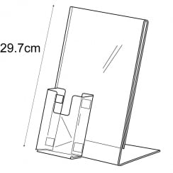 A4 sign holder +1/3 A4 pocket-counter (acrylic sign holders)