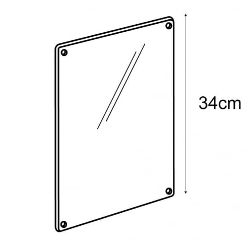 A4 sign panel-wall (acrylic sign holder)