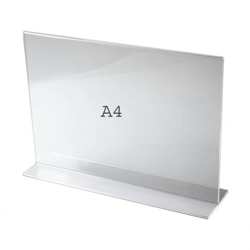 A4 vertical landscape sign holder-counter (acrylic sign holders)