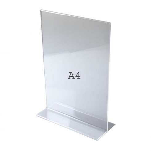 A4 vertical portrait sign holder-counter (acrylic sign holders)