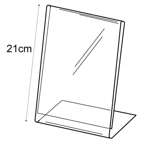 A5 budget angle sign holder-counter (PVC sign holder)