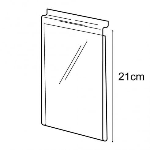 A5 budget sign holder-slatwall (PVC slatwall sign holder)
