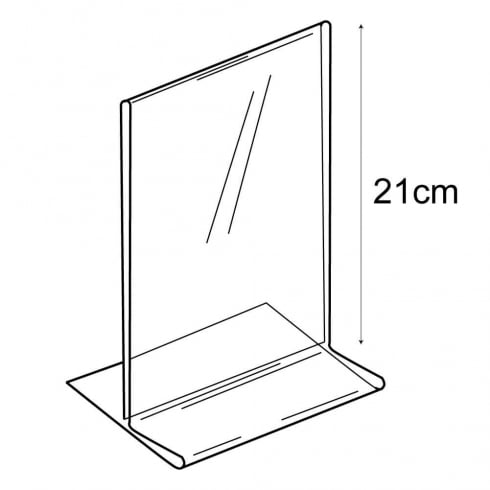 A5 budget vertical sign holder-counter (PVC sign holders)