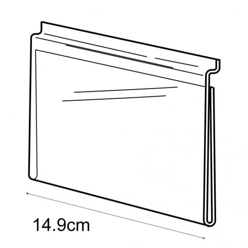 A5 landscape sign holder-slatwall (acrylic slatwall sign holder)