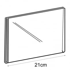 A5 landscape sign holder-wall (acrylic sign holder)