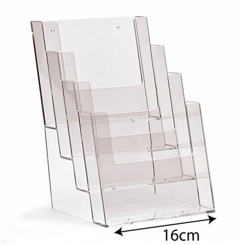 A5 leaflet holder: 4 tier-counter (leaflet & brochure holders)