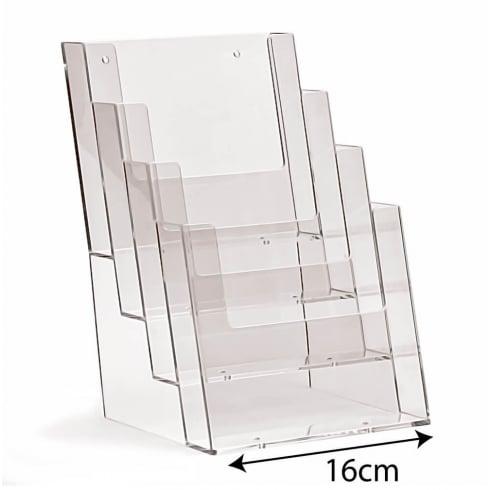 A5 leaflet holder: 4 tier-counter (leaflet & brochure holders)