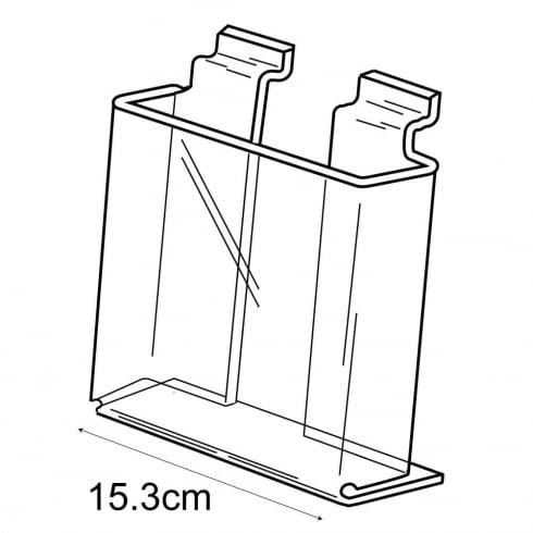 A5 leaflet holder-slatwall (acrylic leaflet holder)