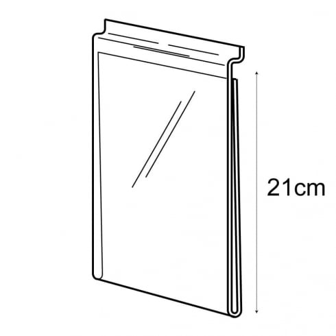 A5 portrait sign holder-slatwall (acrylic slatwall sign holder)