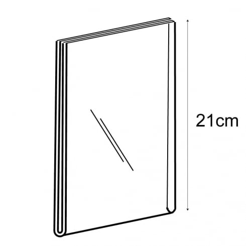 A5 portrait sign holder-wall (acrylic sign holder)