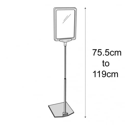 A5 raised sign holder-floor (floor standing sign holder)