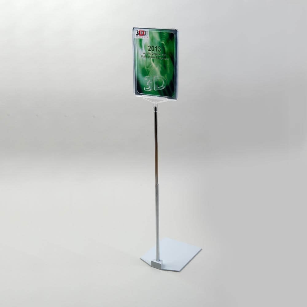 Exhibition Stand Raised Floor : Raised sign holders acrylic perspex display