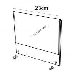 A5 sign holder for T85000 (retail equipment extras)