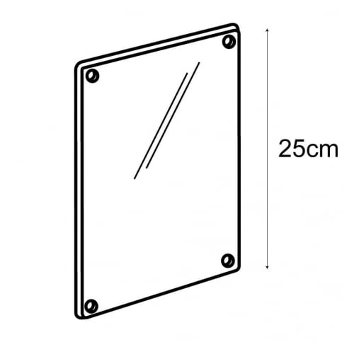 A5 sign panel-wall (acrylic sign holder)