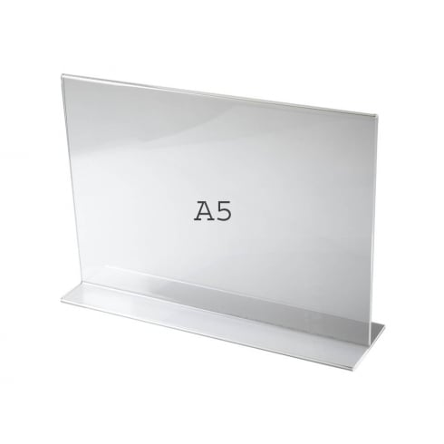 A5 vertical landscape sign holder-counter (acrylic sign holders)