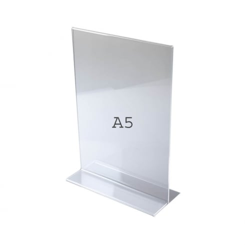 A5 vertical portrait sign holder-counter (acrylic sign holders)