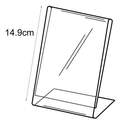 A6 budget angle sign holder-counter (PVC sign holder)