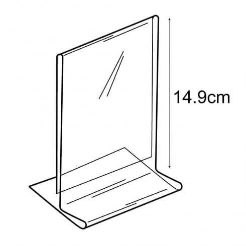 A6 budget vertical sign holder-counter (PVC sign holders)