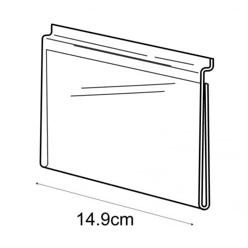 A6 landscape sign holder-slatwall (acrylic slatwall sign holder)
