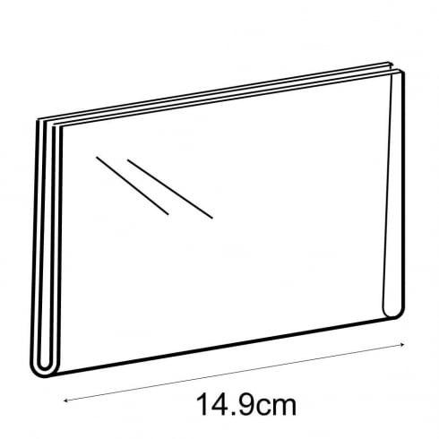 A6 landscape sign holder-wall (acrylic sign holder)