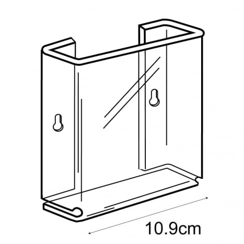 A6 leaflet holder-wall (acrylic brochure holders)