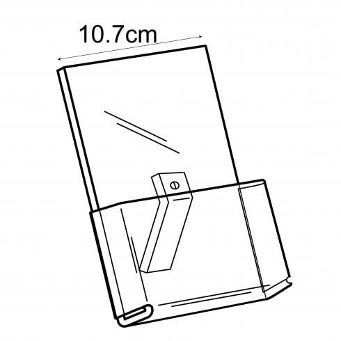 A6 portrait perspex leaflet holder - counter standing