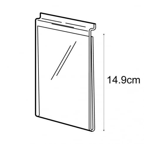 A6 portrait sign holder-slatwall (acrylic slatwall sign holder)