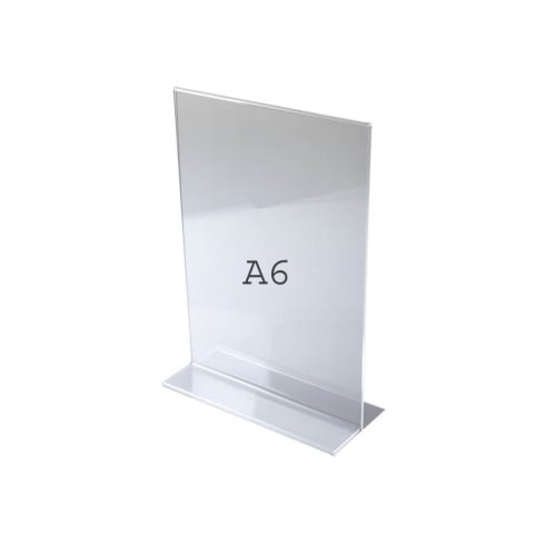 A6 vertical portrait sign holder-counter (acrylic sign holders)