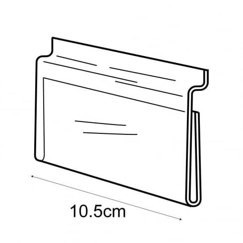 A7 landscape sign holder-slatwall (acrylic slatwall sign holder)