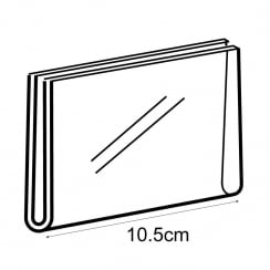 A7 landscape sign holder-wall (acrylic sign holder)