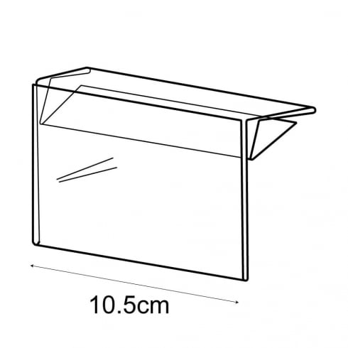 A7 shelf barker-push on (pricing & labelling solution)