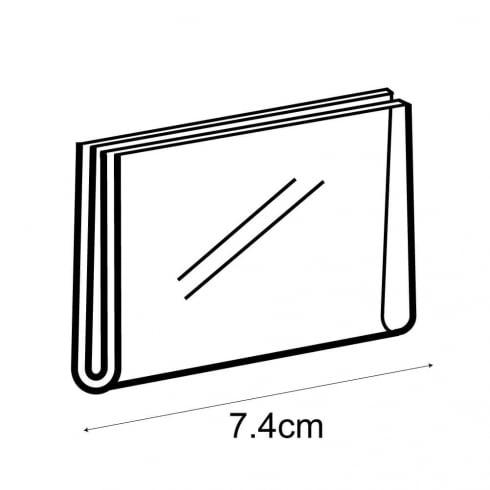A8 landscape sign holder-wall (acrylic sign holder)