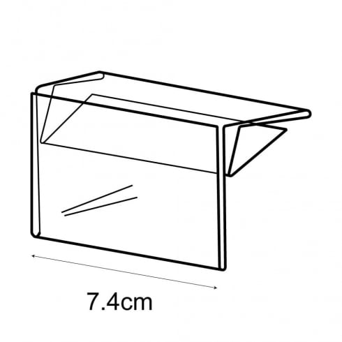 A8 shelf barker-push on (pricing & labelling solution)
