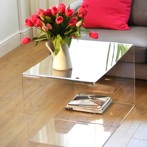 acrylic coffee table: 50cm