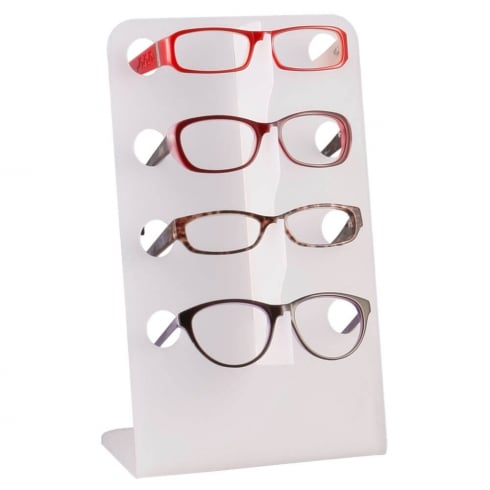 Angled glasses display: multiple (optical displays & glasses stand)