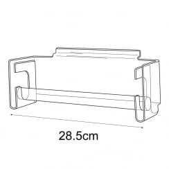Bangle bar-slatwall (acrylic bangle display for slawall)