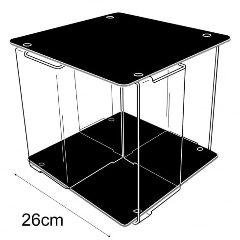 Book/DVD spinner-counter (acrylic containers & trays)