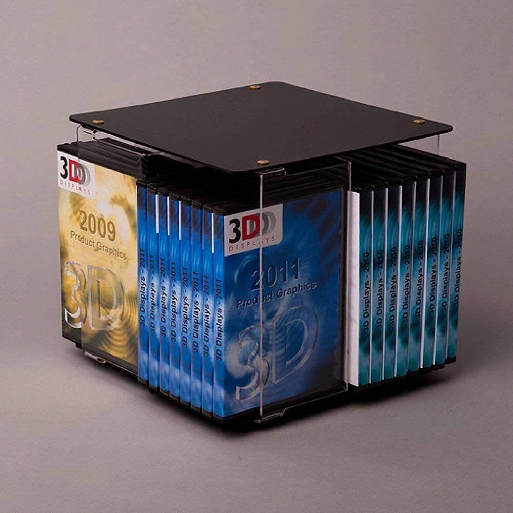 Book/DVD spinner-counter