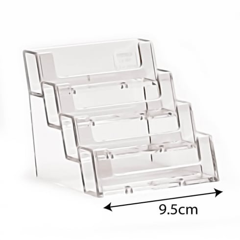 Business card holders acrylic perspex acrylic display equipment business card holder 4 tier business card holders reheart Image collections