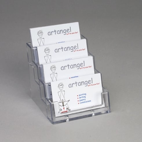 Business card holder: 4 tier
